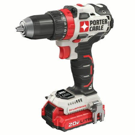 PORTER CABLE 20-Volt Max Lithium-Ion Brushless 1/2-Inch Cordless Drill, PCCK607LB