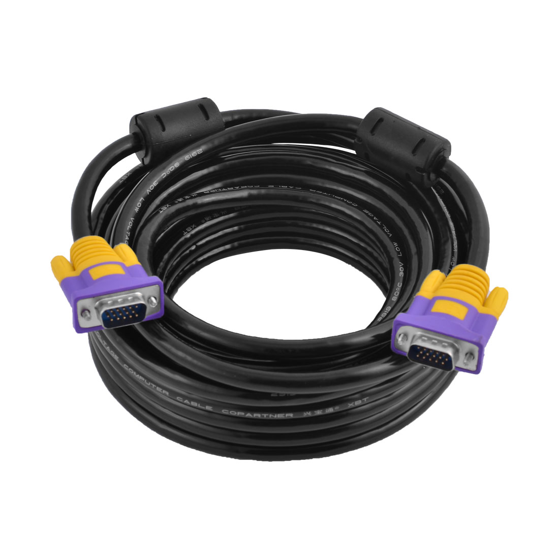 33Ft HD 15Pin Male to Male M/M VGA Monitor Extension Cable Cord