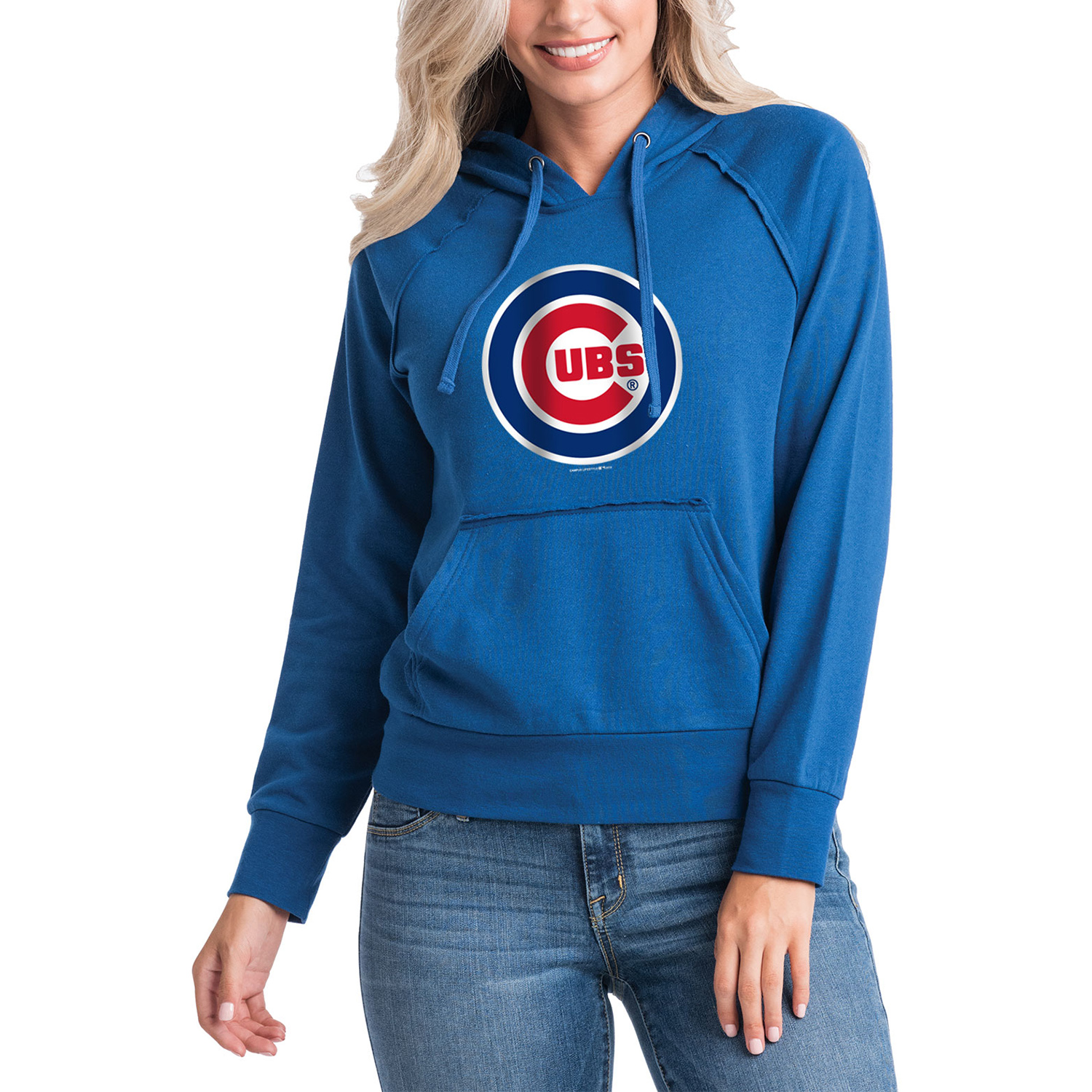 Women's 5th & Ocean by New Era Royal Chicago Cubs Team Pullover Hoodie