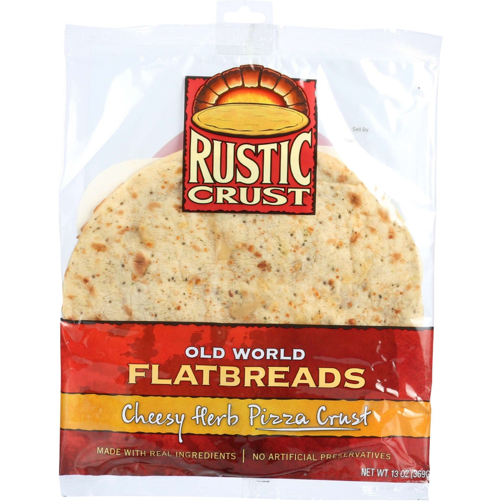 Rustic Crust Cheesy Herb Pizza Crust, 16 Oz