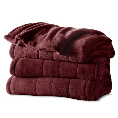 Sunbeam Microplush Electric Heated Channeled Blanket, 1 Each (Ll Bean Electric Blanket)