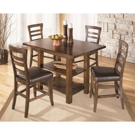 design by ashley furniture pinderton dining room table in dark brown