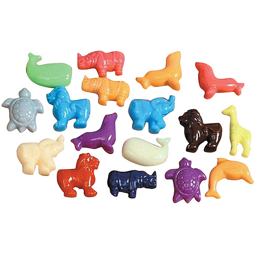 School Smart Animal Pony Plastic Bead Mix with Thread, 0.5 lbs