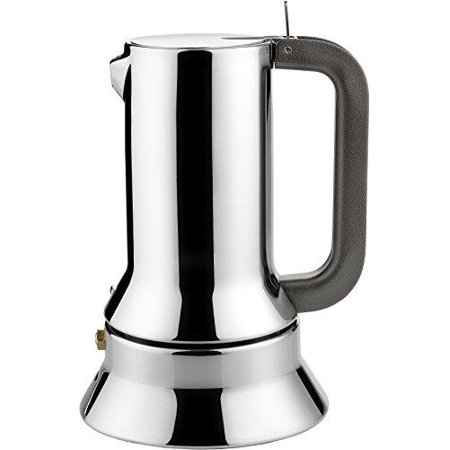 alessi 9090/3 stove top espresso 3 cup coffee maker in 18/10 stainless steel mirror polished with magnetic bottom suitable for induction cooking,
