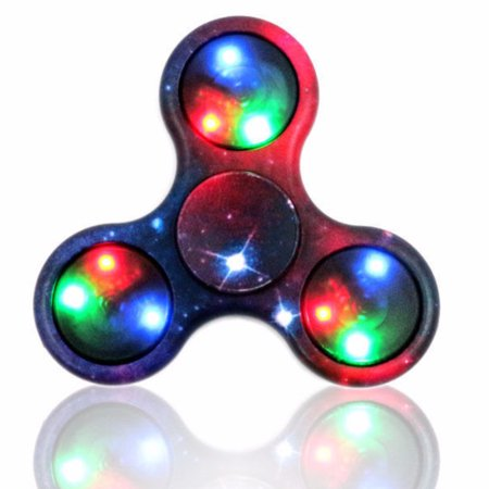 Multi Color LED Light Hand Fidget Plastic Spinners For Autism and ADHD Relief Focus Toys ](Color For Autism)