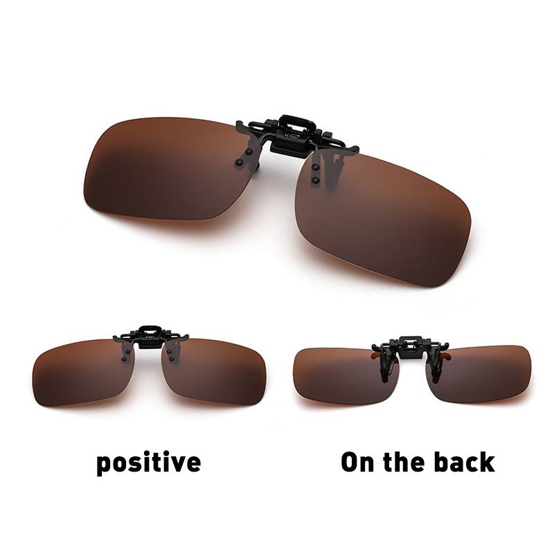 Yellow Lens Clipon Driving Polarized Uv 400 Clip-on Sunglasses Day Night Vision