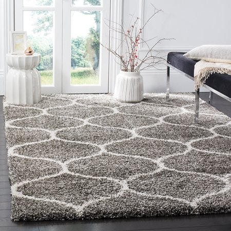 Safavieh Hudson Collection Sgh280b Grey And Ivory Moroccan Ogee Plush Square Area Rug 7
