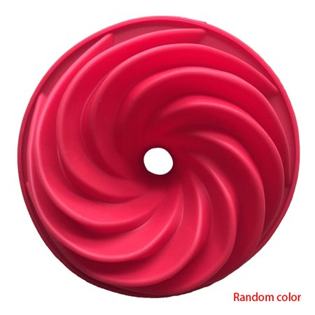 Random Color Kitchen Bakeware Swirl Shape Silicone Cake Moulds Pan DIY Cookies Desserts Baking Mold Pastry Tools ()