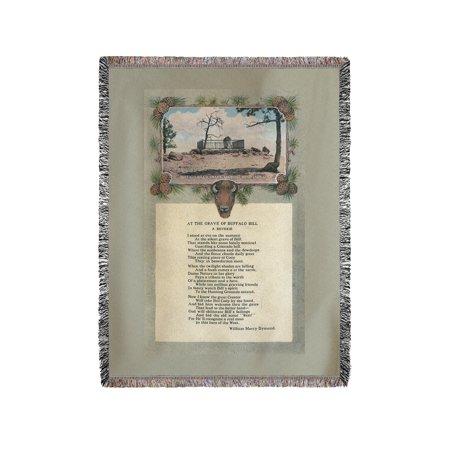 Lookout Mountain, Colorado - Buffalo Bill Grave Poem (60x80 Woven Chenille Yarn Blanket)