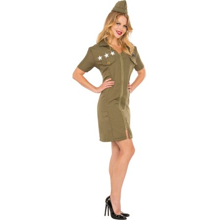 Women's Miss Three Star Flyer Front Zip Dress Costume