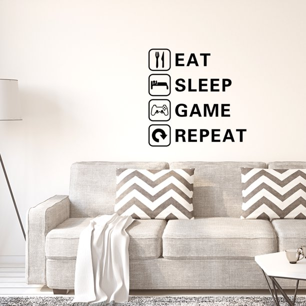 Letter Eat Sleep Game Repeat Wall Sticker Self Stick Art Decal For Living Room Bedroom Walmart Com Walmart Com,2 Bedroom Apartments For Rent Near Me Under 1000