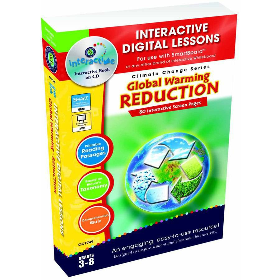 Classroom Complete Press Global Warming Interactive Digital Lesson CD-ROM, Grade 3 to 8