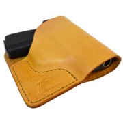 Tan Italian Leather Pocket Holster for Kahr P380, CW380 and Similar Guns