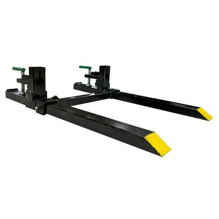 "Titan 30"" LW Clamp on Pallet Forks w/ Adjustable Stabilizer Bar 1500lb Capacity"