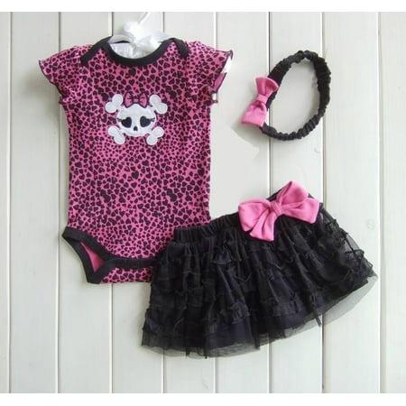 Litte Diva Skull Tutu Set  18 months - Diva Outfits