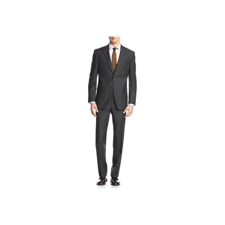 GN GIORGIO NAPOLI Presidential Men's Suit Two Button 2 Piece Modern Classic Fit Charcoal