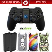 Deco Gear DJI Tello Drone Remote Control w/ 2 Tello Batteries & 3 Pack Body Skin Kit Bundle