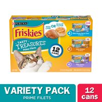 Friskies Gravy Wet Cat Food Variety Pack, Tasty Treasures Prime Filets - (12) 5.5 oz. Cans