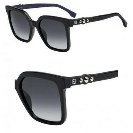 Sunglasses Fendi Ff 269 /S 0807 Black / 9O dark gray gradient (Fendi Sunglasses Sale)
