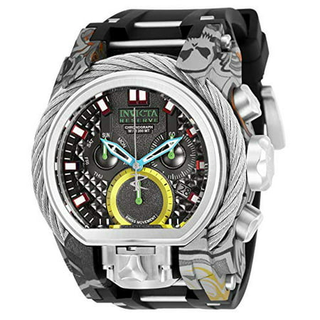 Invicta Men's 26443 Reserve Quartz 3 Hand Black Dial