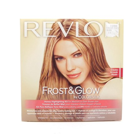 Revlon Frost & Glow by Colorsilk Honey Highlighting Kit for Medium to Dark Brown Hair 1