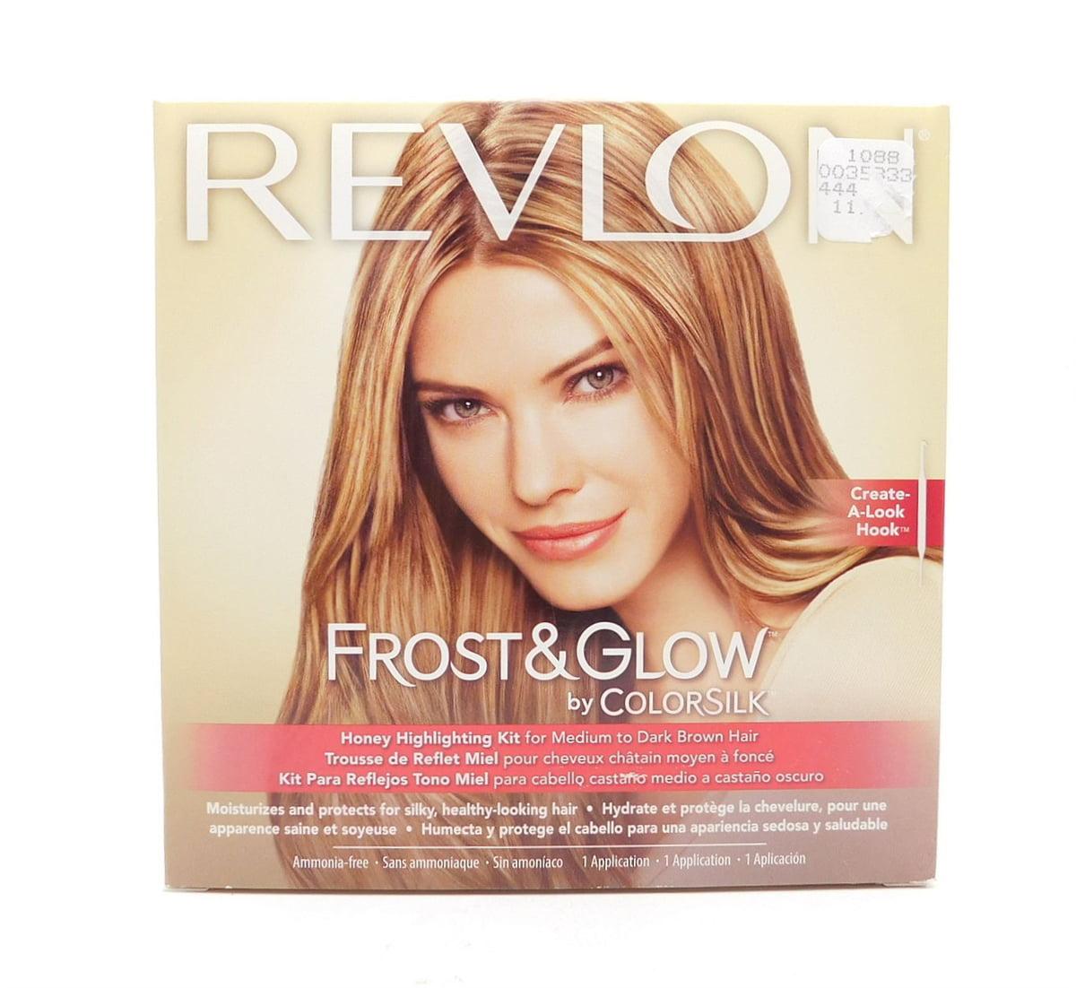 Revlon Frost & Glow by Colorsilk Honey Highlighting Kit for Medium to Dark Brown Hair 1 Application
