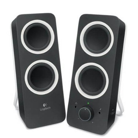 Refurbished Logitech Z200 2.0 Channel Multimedia Computer Speaker System - Black (Z200 With Stereo Sound For Multiple Devices)