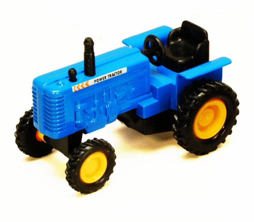 Power Farm Tractor, Blue Showcasts 2169D 4 Inch Scale Diecast Model Replica (Brand but NOT... by Showcasts