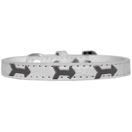Arrows Widget Croc Dog Collar White Size 16