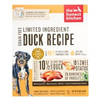 The Honest Kitchen Spruce: Dehydrated Minimalist Limited Ingredient Dog Food, Grain Free Duck & Sweet Potato, 10 lbs (Make 40 lbs)