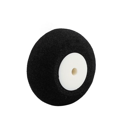 Black Ultralight Rubber Sponge Wheel 25mm x 13mm for 2.5mm Shaft Dia RC