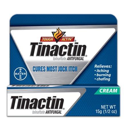 Tinactin Antifungal Jock Itch Cream for Itching, Burning, Chafing, 15g (0.5 Oz) + Eyebrow