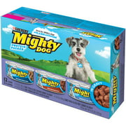 Purina Mighty Dog Thick-Sliced Chicken Dinner in Gravy/Thick-Sliced Beef Dinner in Gravy/Tenderloin Tips Flavor in Gravy Dog Food Variety Pack 12-5.5 oz. Cans