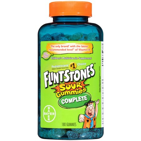 Flintstones Sour Gummies Complete Children's Multivitamin, 180 Count
