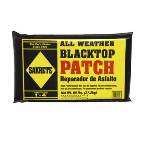 Sakrete 16060 All-Weather Blacktop Patch Plastic Bag 60 Lb 60 Lb Bag Concrete