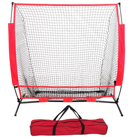 ZENY 5'x5' Baseball & Softball Teeball Practice Pitching & Fielding Net w/Carry Bag, Backstop Screen Equipment Training