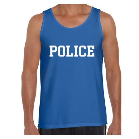 Awkward Styles Men's Police Tank Top Police Sleeveless Shirt Law Enforcement Gifts for Him Police Outfit Police Cop Outfit Cops Tank Top Men](Police Outfits)