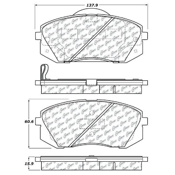 2011 2012 2013 For Kia Sportage Front Semi Metallic Brake Pads