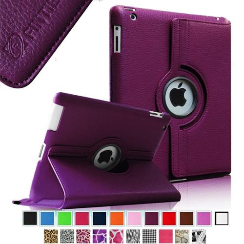 Fintie Apple iPad 2/3/4 Case - 360 Degree Rotating Stand Cover with Auto Wake/Sleep Feature, Purple