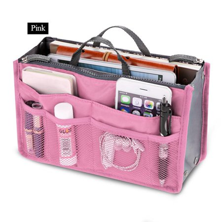 Travel Portable Cosmetic Makeup Storage Handbag Tote Insert Purse Pouch Bag