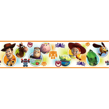 Disney - Peel & Stick Wall Border, Toy Story 3 Adhesive Peel Off Borders