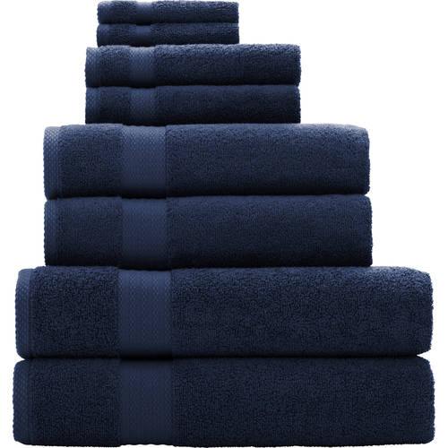 Mainstays Quick Drying 8-Piece Bath Towel Set