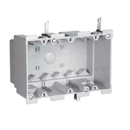 Pass & Seymour - S352W - 3 Gang Old Work Switch and Outlet Box with Quick/Click