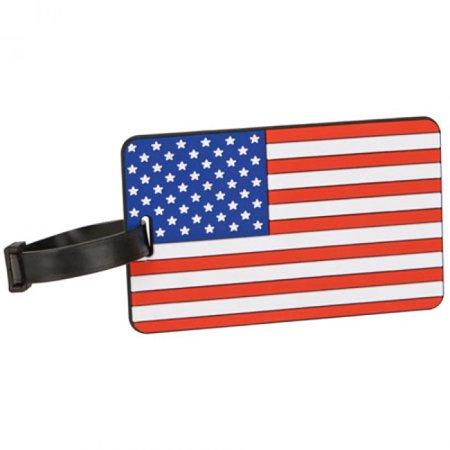 Travelon American Flag Luggage Tag - Assorted Colors Flag (Flag Luggage Tag)