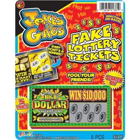 Jokes & Gags Fake Lottery Tickets (Pack of 3) - Jokes And Gags Toys