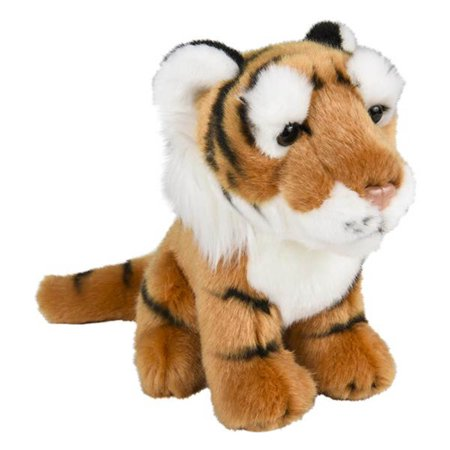 Wildlife Tree 8 Inch Stuffed Tiger Plush Sitting Animal Kingdom