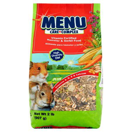 (2 Pack) Vitakraft Menu Care Complex Hamster & Gerbil Food, 2