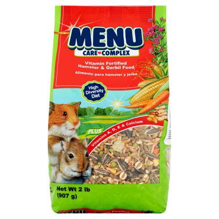 (2 Pack) Menu Care Complex Vitamin Fortified Hamster & Gerbil Food, 2 lb