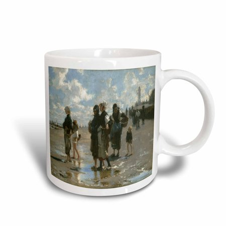 3dRose Oyster Gatherers at Cancale by John Singer Sargent, Ceramic Mug, 15-ounce