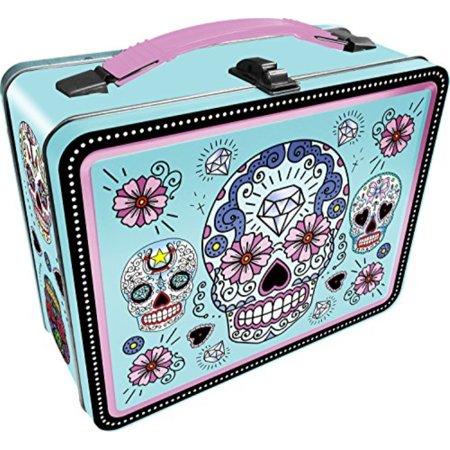Lunch Box - Sugar Skulls - Blue Gen 2 Metal Tin Case New Licensed - Metal Lunchbox